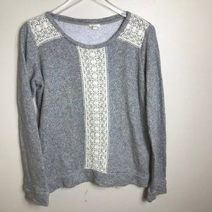 Soft Joie Lace Sweatshirt Small 0049